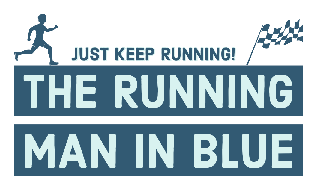 The Running Man in Blue